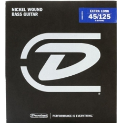 Jim Dunlop DBN45125XL Nikel XL 5 Teli Bas Gitar Teli (45-125)