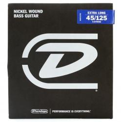 Jim Dunlop DBN45125XL Nikel XL 5 Teli Bas Gitar Teli (45/125)