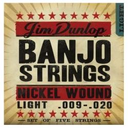 Jim Dunlop DJN0920 Nikel Banjo Teli (.009–.020)