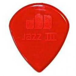 Jim Dunlop Jazz III Nylon Red Pena