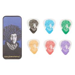 Jim Dunlop John Van Hamersveld Jimi Hendrix 6lı Pena Seti (Medium)