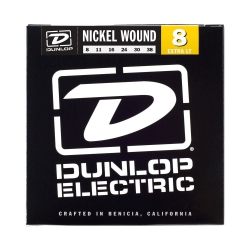 Jim Dunlop Nickel Wound Light Elektro Gitar Teli (08–38)