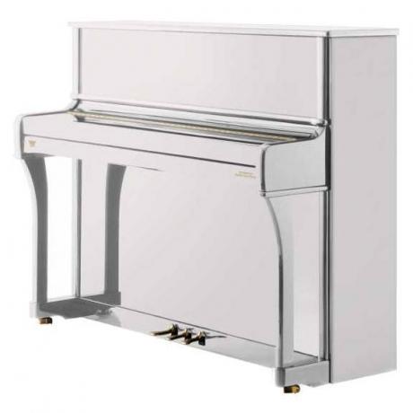 Johannes Seiler Model 114 Traditio Akustik Duvar Piyanosu (Parlak Beyaz)<br>Fotoğraf: 1/1