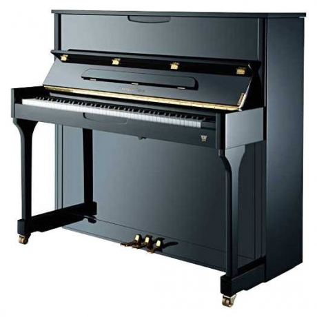 Johannes Seiler Model 114 Traditio Akustik Duvar Piyanosu (Parlak Siyah)<br>Fotoğraf: 1/1