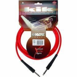 Klotz KIKKG3.0PRRT Kırmızı Enstrüman Kablosu (3 Metre)