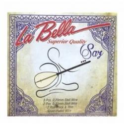 La Bella LBH20 0,20 Takım Uzun Sap Bağlama Teli