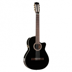 La Patrie Hybrid CW Crescent Elektro Klasik Gitar (Siyah)