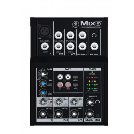 Mackie Mix5 5 Kanal Deck Mikser<br>Fotoğraf: 1/3