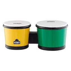 Nino NINO19G/Y 6.5 - 7.5 Inch Abs Bongo (Yeşil / Sarı)