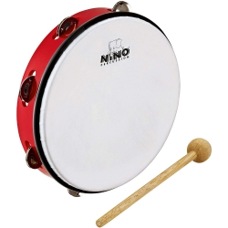 Nino NINO24R Abs Tambourine 10 Inch Jingle Drum
