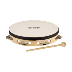 Nino NINO25 Headed Wood 10 Inch Tambourine