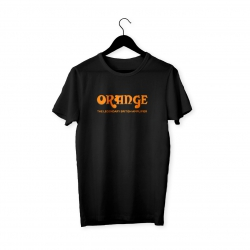 Orange Logo T-Shirt (Siyah)