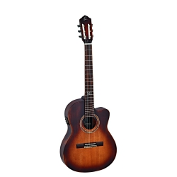 Ortega DSSUITE-C/E Thinline Elektro Klasik Gitar (Bugburst)