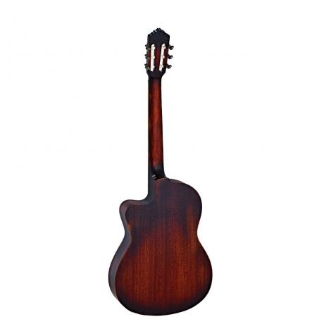 Ortega DSSUITE-C/E Thinline Elektro Klasik Gitar (Bugburst)<br>Fotoğraf: 2/2
