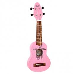 Ortega Keiki Turtle Soprano Ukulele (Pink)