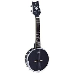 Ortega OUBJ100-SBK Banjo Ukulele (Semi Satin Black)