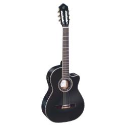 Ortega RCE141BK Elektro Klasik Gitar (Siyah)