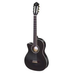 Ortega RCE145BK Solak Elektro Klasik Gitar (Siyah)
