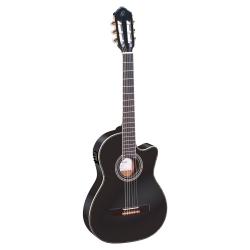 Ortega RCE145BK Thinline Elektro Klasik Gitar (Siyah)