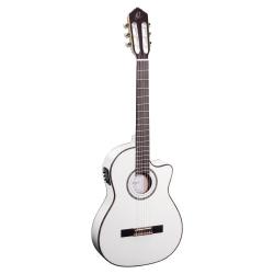 Ortega RCE145WH Thinline Elektro Klasik Gitar (Beyaz)