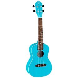 Ortega RULAGOON Concert Ukulele (Transparent Turquoise)