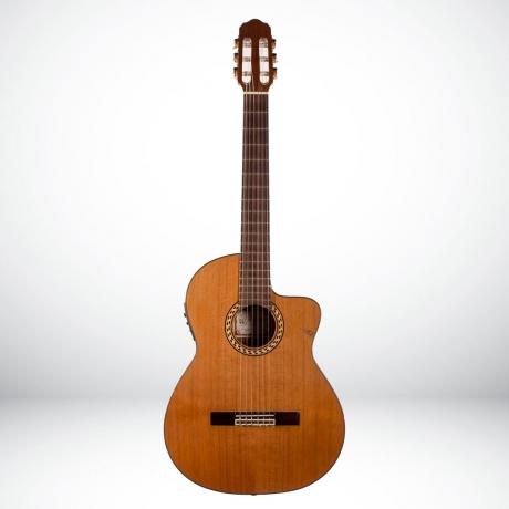 [Outlet] Prudencio Saez 52 Sapele Cutaway Elektro Klasik Gitar<br>Fotoğraf: 1/4