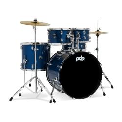 PDP Drums centerstage 20 Inch 5-Parça Akustik Davul Seti (Royal Blue Sparkle)