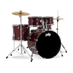 PDP Drums centerstage 20 Inch 5-Parça Akustik Davul Seti (Ruby Red Sparkle)