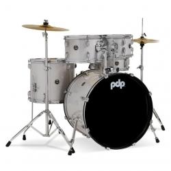 PDP Drumscenterstage 20 Inch 5-Parça Akustik Davul Seti (Diamond White Sparkle)
