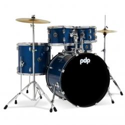 PDP Drumscenterstage 22 Inch 5-Parça Akustik Davul Seti (Royal Blue Sparkle)