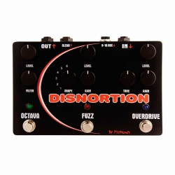 Pigtronix Disnortion Octave Fuzz Overdrive Pedalı