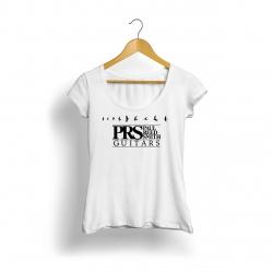 Prs Logo Kadın T-Shirt (Beyaz)