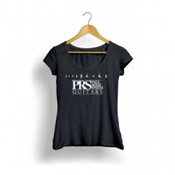 Prs Logo Kadın T-Shirt (Siyah)