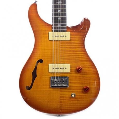 PRS SE 277 Semi-Hollow Soapbar Elektro Gitar (Vintage Sunburst)<br>Fotoğraf: 3/4