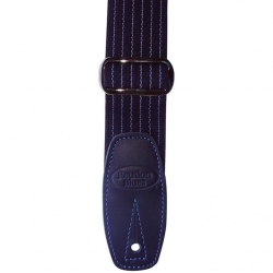 Reunion Blues Merino Wool Guitar Strap (Blue Pinstripe)