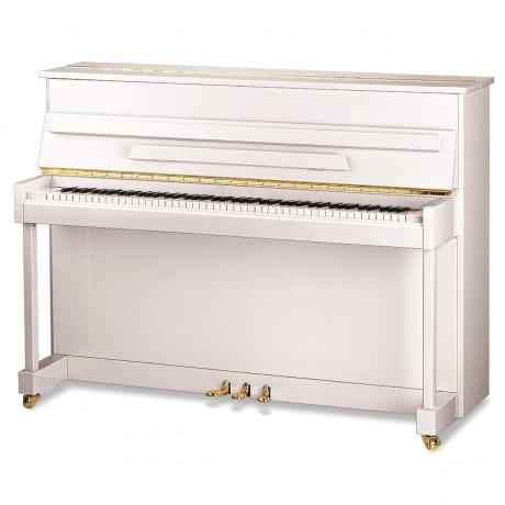 Ritmüller UP110R Akustik Duvar Piyanosu (Parlak Beyaz)<br>Fotoğraf: 1/1