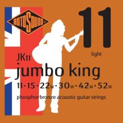 Rotosound JK11 Jumbo King Bronz Akustik Gitar Teli (11-52)