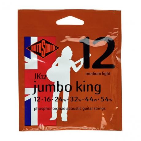 Rotosound JK12 Jumbo King Akustik Gitar Teli (12-54)<br>Fotoğraf: 1/1