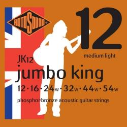 Rotosound JK12 Jumbo King Akustik Gitar Teli (12-54)