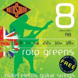Rotosound R8 Greens Elektro Gitar Teli Seti (8-38)