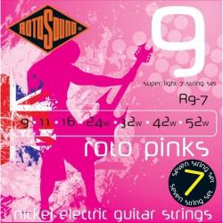Rotosound R9-7 Nickel 7 Telli Elektro Gitar Teli Seti (9-52)