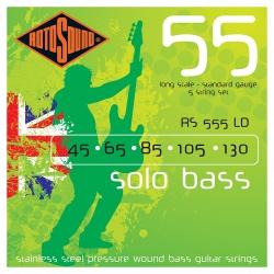 Rotosound RS555LD Linea Pressure Wound 5 Telli Bas Gitar Teli (045-130)