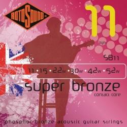Rotosound SB11 Super Bronze Contact Core Akustik Gitar Teli (11-52)