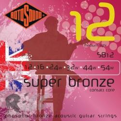 Rotosound SB12 Super Bronze Contact Core Akustik Gitar Teli (12-54)