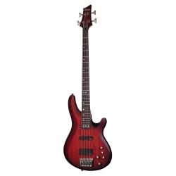 Schecter C-4 Custom 4 Telli Bas Gitar (Trans Crimson Stain)