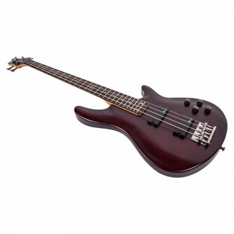 Schecter C-4 SGR Bas Gitar (Satin Walnut)<br>Fotoğraf: 3/4