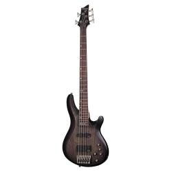 Schecter C-5 Custom 5 Telli Bas Gitar (Trans Black Stain)