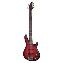 Schecter C-5 Custom 5 Telli Bas Gitar (Trans Crimson Stain)