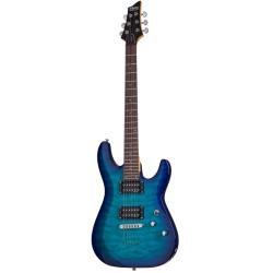 Schecter C-6 Plus Elektro Gitar (Ocean Blue Burst)