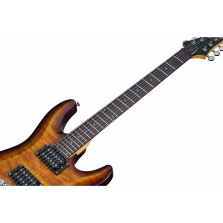 Schecter C-6 Plus Vintage Sunburst Elektro Gitar<br>Fotoğraf: 5/6